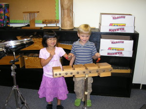Sharing an instrument requires concentration and careful listening.